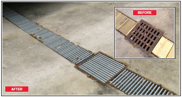 "DURAGRID 1.5"" HD-5000 pultruded grating"