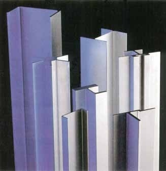 Typical aluminum shapes extruded from aluminum billets