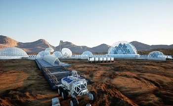 Future City Life on Mars