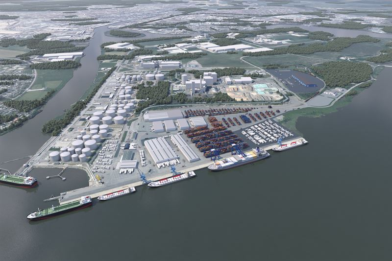 Peab Extends Pampus Port in Norrköping