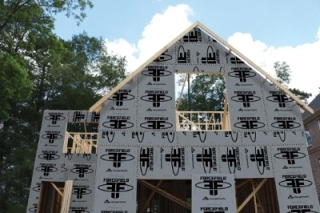 Georgia pacific s forcefield wall sheathing prevents air for Sheathing house wrap