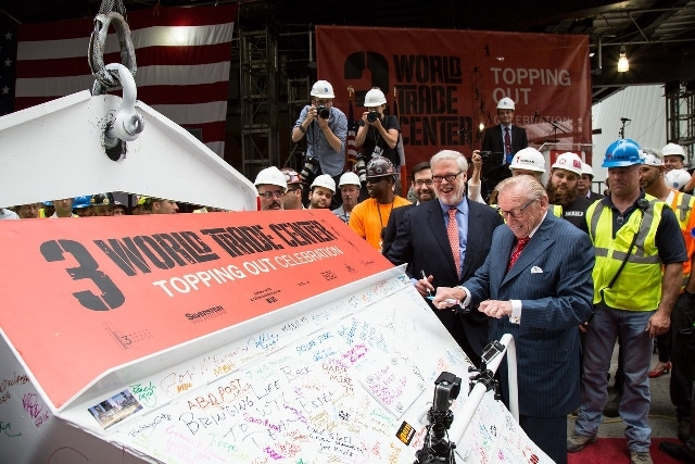 Silverstein Properties Celebrates Topping Out Ceremony at 3 World Trade Center