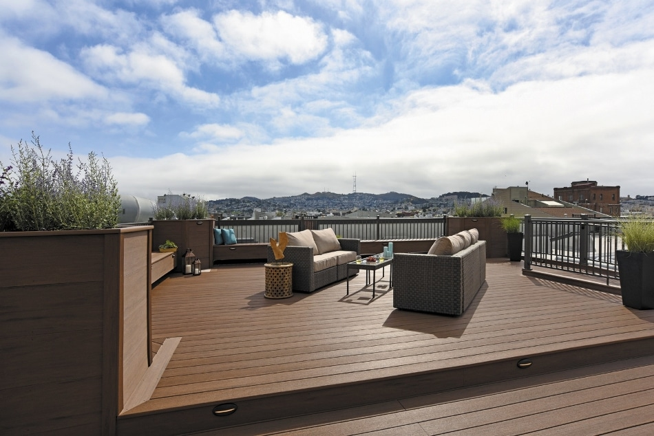 AZEK Deck's Vintage Collection Helps Transform Condo Building Rooftop in San Francisco