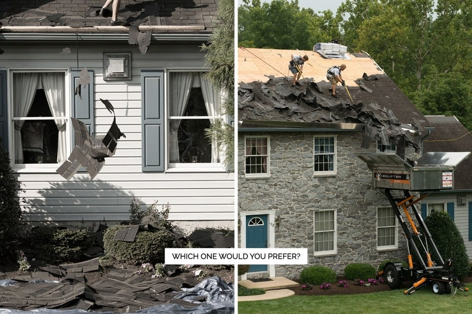 Roofing Companies Using New Roof No Mess Process Drastically Cut Cleanup