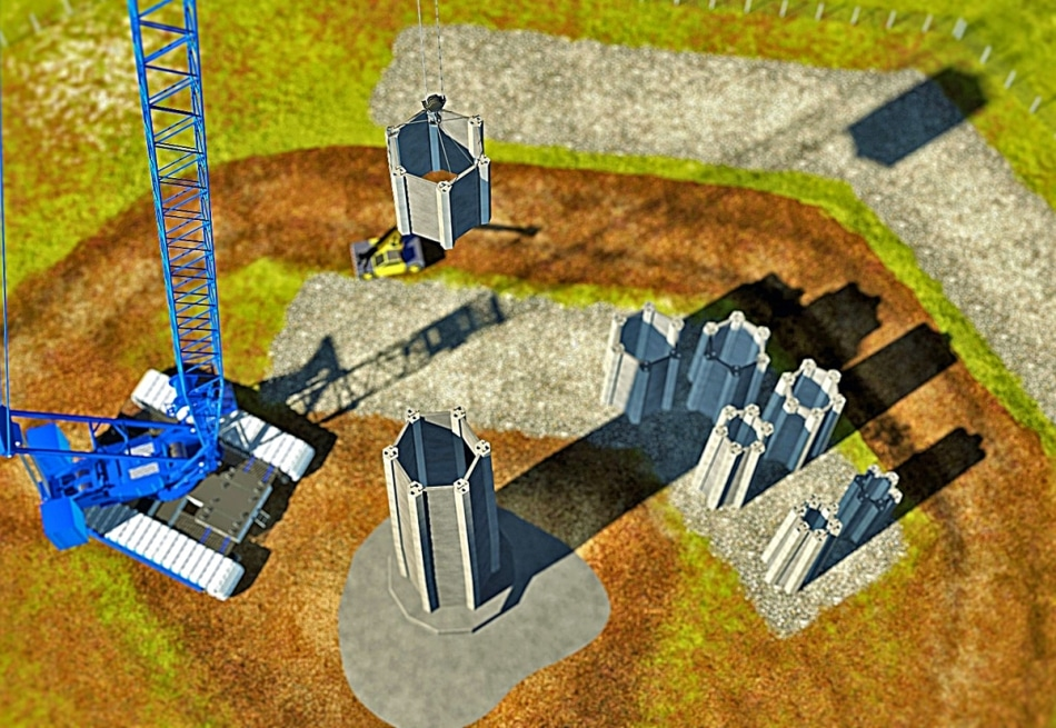 New Concept of Using Concrete Tower Technology for Taller Wind Turbine Towers