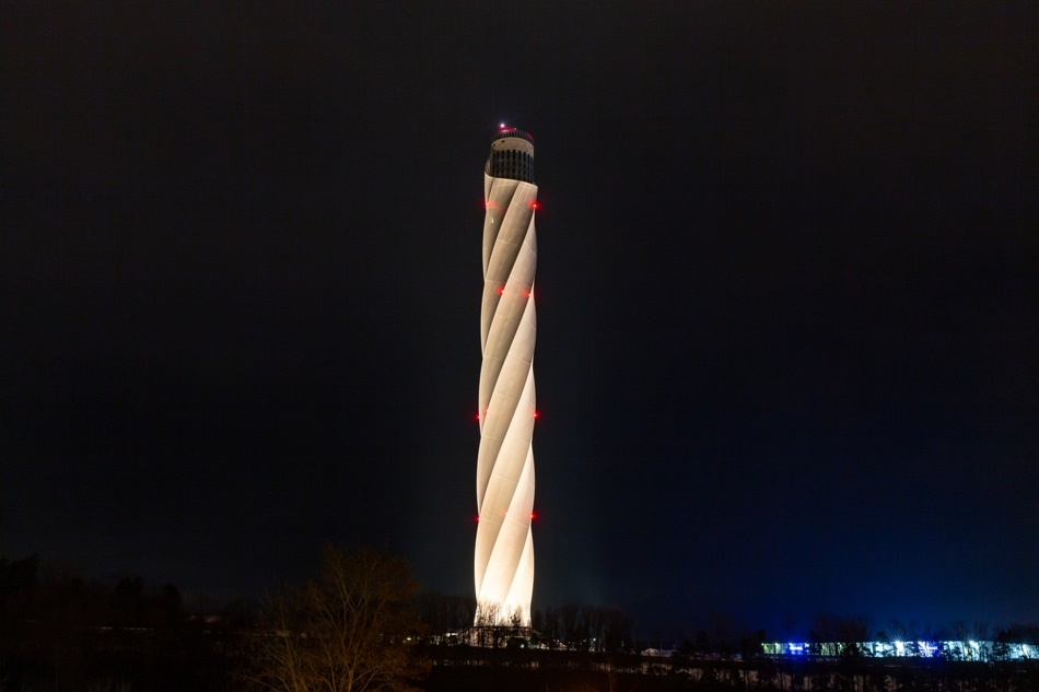 Valentine's Day 2019: Thyssenkrupp Lights up German Elevator Test Tower for the First Time