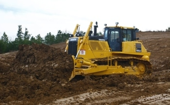 Komatsu America Introduces the D155ax-8 LGP (Low Ground Pressure) Dozer