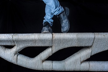 Concrete Bridge Created Using a 3D Printer