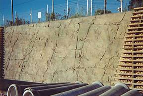 Ecoflex E Wall with Mock Rock facing at Lisarow, NSW